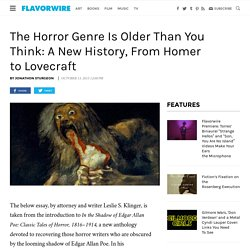 A New History of the Horror Story: From Homer to Lovecraft