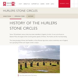 History of The Hurlers Stone Circles