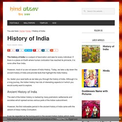 History of India - Brief History of India - HindUtsav.com