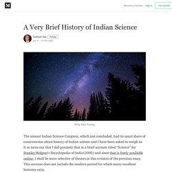 A Very Brief History of Indian Science - Subhash Kak - Medium