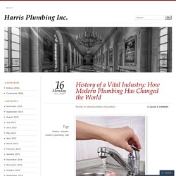 History of a Vital Industry: How Modern Plumbing Has Changed the World