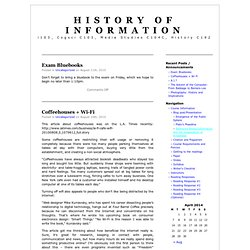 Blog - History of Information