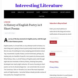 A History of English Poetry in 8 Short Poems – Interesting Literature