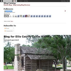 Blog for Ellis County Texas History: