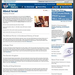 Stand for Israel: History of Israel : Stand for Israel