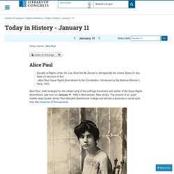 Today in History - January 11