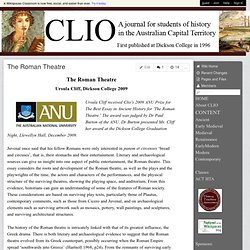 CLIO History Journal - The Roman Theatre