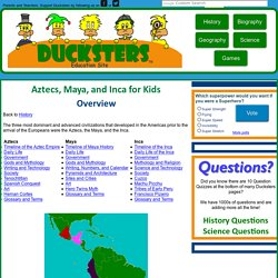 History for Kids: Aztecs, Maya, and Inca