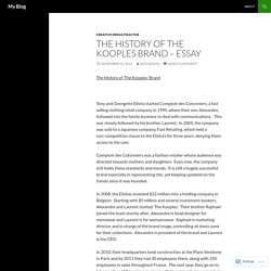The History of The Kooples Brand – Essay