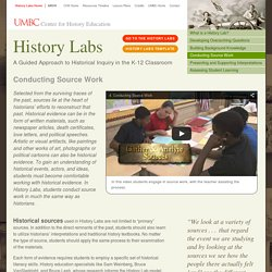 History Labs: Conducting Source Work