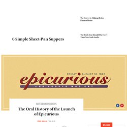 History of the Launch of Epicurious in 1995