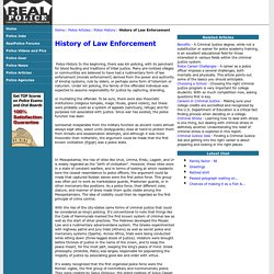 History of Law Enforcement - Police History