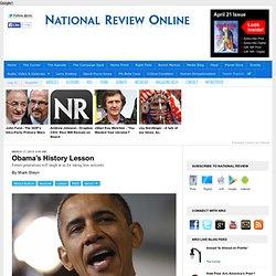 Obama's History Lesson - Mark Steyn