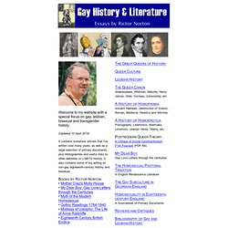 Gay History and Literature