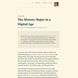The History Major in a Digital Age