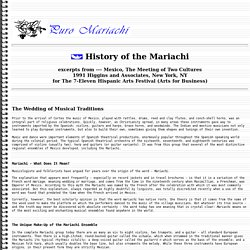 History of the Mariachi