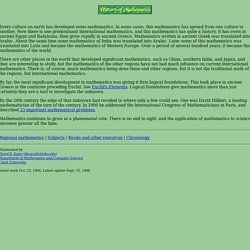 History of Mathematics Home Page
