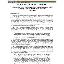 www.history-matters.com/essays/jfkmed/ADemonstrableImpossibility/ADemonstrableImpossibility.htm
