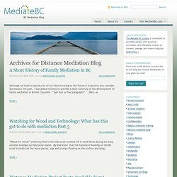BC Distance Family Mediation Blog