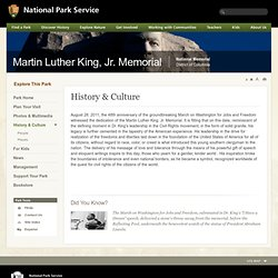 History & Culture - Martin Luther King, Jr. Memorial National Memorial