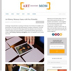 Art History Memory Game with Free Printable - Art History Mom
