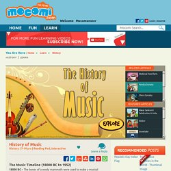 The History of Music - Music Timeline for Kids