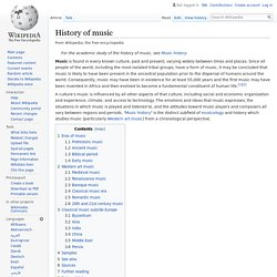 History of music - Wikipedia
