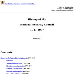 History of the National Security Council 1947-1997