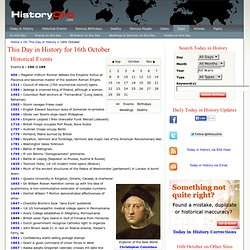 This Day in History for 16th October