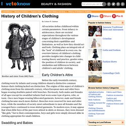 History of Children's Clothing