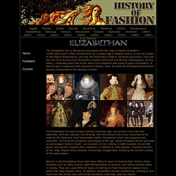 History Of Fashion - Elizabethan