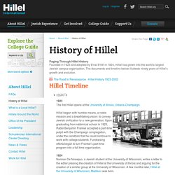 1923 Fondation Hillel