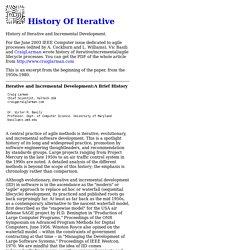 History Of Iterative