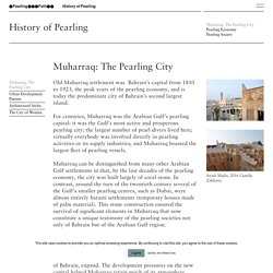 History of Pearling - Pearling path