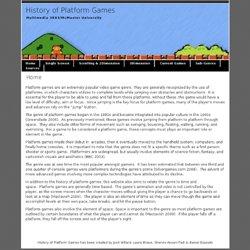 History of Platform Games