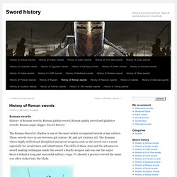 History of Roman swords