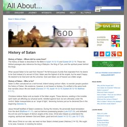 History of Satan