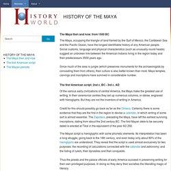 HISTORY OF THE MAYA