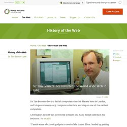 History of the Web
