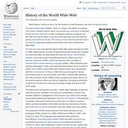 History of the World Wide Web - Wikipedia