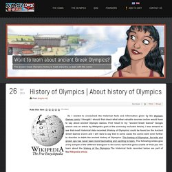 About history of Olympics