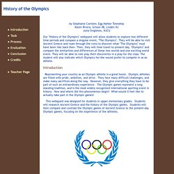 History of the Olympics webquest