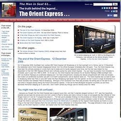 A history of the Orient Express - the truth behind the legend...