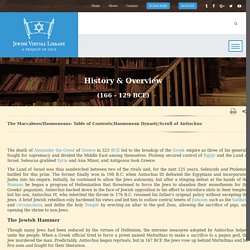 History & Overview of the Maccabees