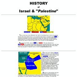 History of Israel and Palestine in VERY Easy To Understand Maps