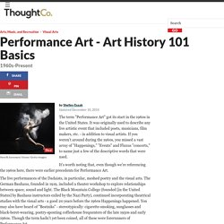 Art History Basics on Performance Art: 1960's-Present