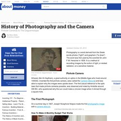 History of Photography and the Camera