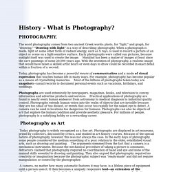 History of Photopraphy