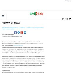History of Pizza