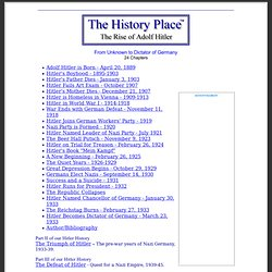 The Rise of Adolf Hitler: Chapter Index